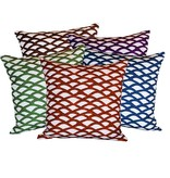 """steve mckenzie's Scallop Linen Pillow Oyster Background 20""""x20"""""""