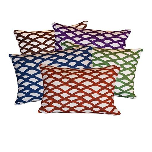 """steve mckenzie's Scallop Linen Pillow Flax Background 14""""x20"""""""