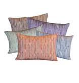 "steve mckenzie's Pinstripe Linen Pillow Flax Background 14""x20"""