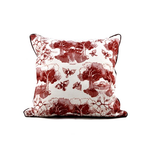 Southern Toile Red Pillow