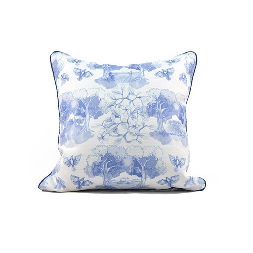 Southern Toile Blue PIllow
