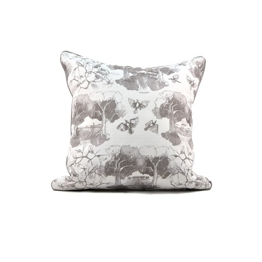 Southern Toile Gray PIllow