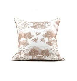 Southern Toile Taupe Pillow