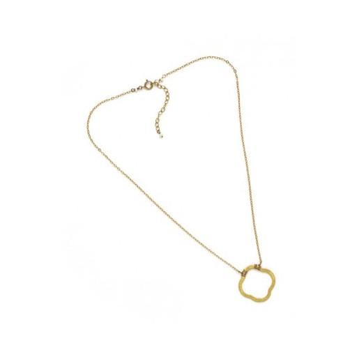 Hazen Jewelry Clover Necklace Gold