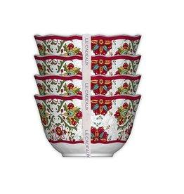 Le Cadeaux Dessert Bowls s/4 Allegra Red