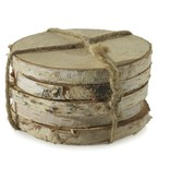 "Birch Coasters 4""D set/5"