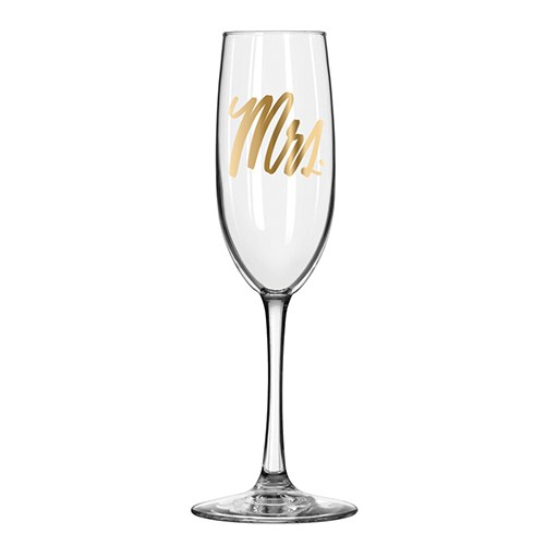 Mrs. Champagne Flute