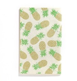 "Handmade Notebook Gold Pineapple  5""x 8"""