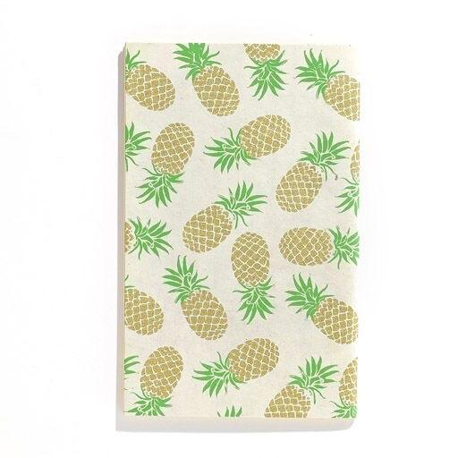 "Handmade Notebook Gold Pineapple  5""x 8"""
