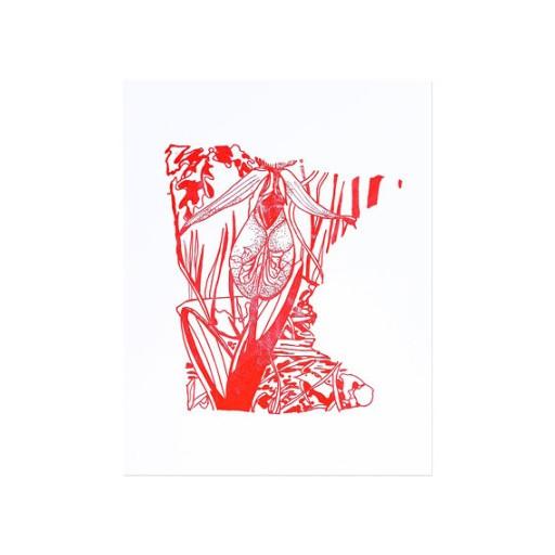 """Thimblepress Minnesota Letterpress Print 11x14"""""""