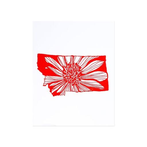 """Thimblepress Montana Letterpress Print 11x14"""""""