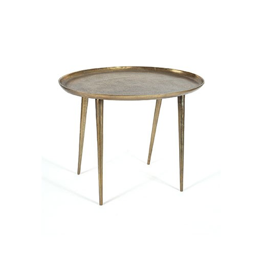 Selamat Antique Brass Side Table Large