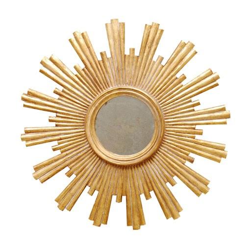 """28""""D Gold Leafed Starburst Mirror"""