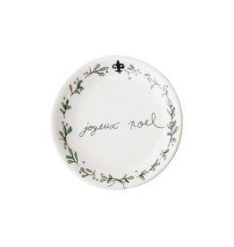 """Joyeux Noel Ceramic Dish 3"""" Rnd"""