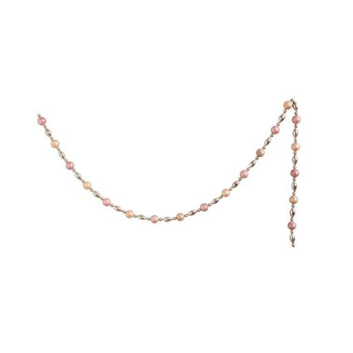 "Pink/Gold Glass Garland 72""L"