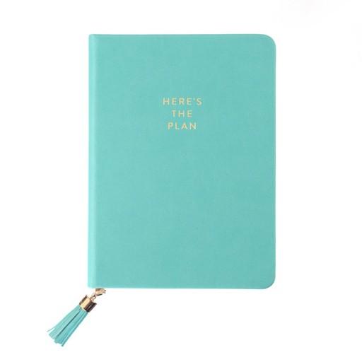 Here's The Plan Tassel Journal in Seafoam