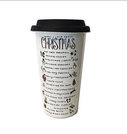 What I Love About Christmas Travel Mug