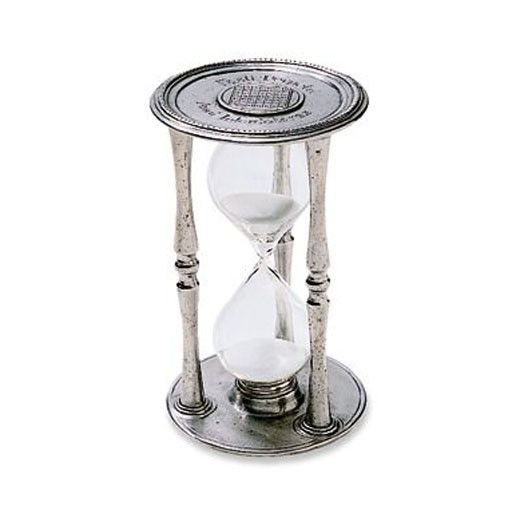 Match Pewter Round Hourglass Large