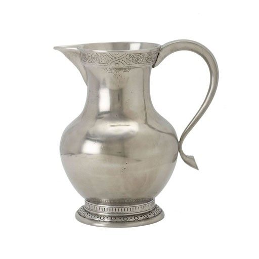 Match Pewter Engraved Pitcher