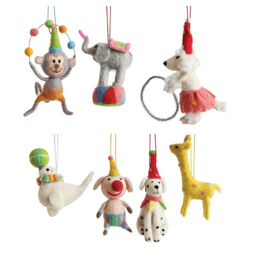 Wool Circus Animal Ornament