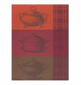 Tea Towel Veloute Terracotta