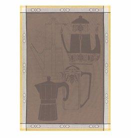 Tea Towel Cafetiere Brown