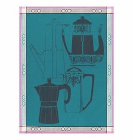 Tea Towel Cafetiere Blue Cedar