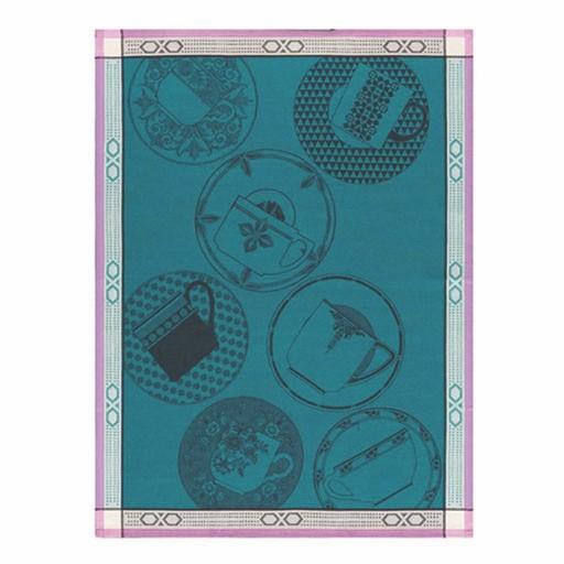 Tea Towel Pause Cafe Blue Cedar