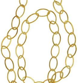 Hazen Jewelry Oval Chain Long Necklace