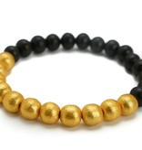 Hazen Jewelry Black Wood/Gold Bracelet