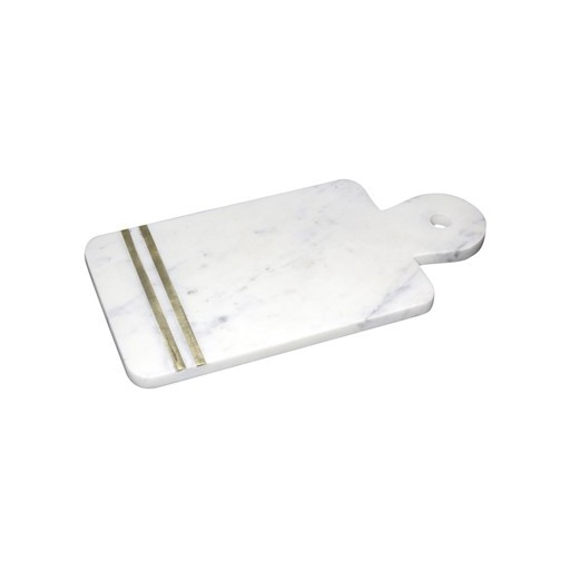 Cheese Board Marble & Brass
