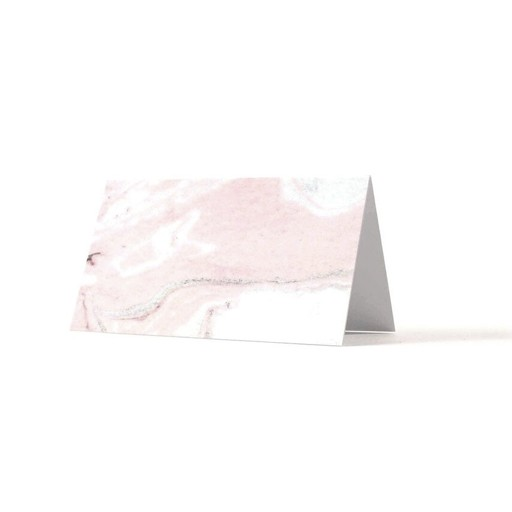 Thimblepress Pink Marbled Place Cards Set/8