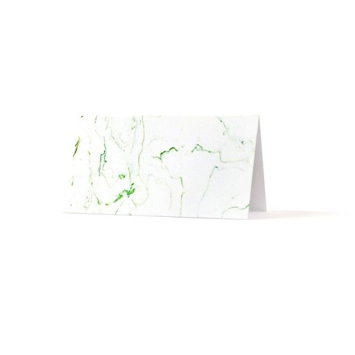 Thimblepress Green Marbled Place Cards Set/8