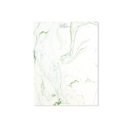 Thimblepress Green Marbled Notepad