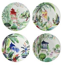 Gien Gien Jardins Extraordinaire Canapes Plates Set/4