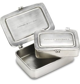 "Match ""Tutto E Possibile"" Pewter Box Small"