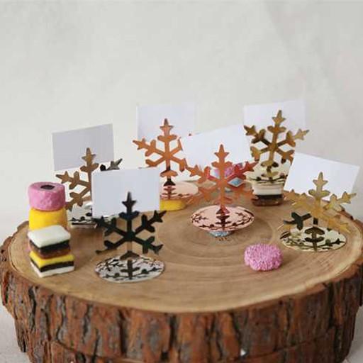 Snowflake Card Holders Set/4