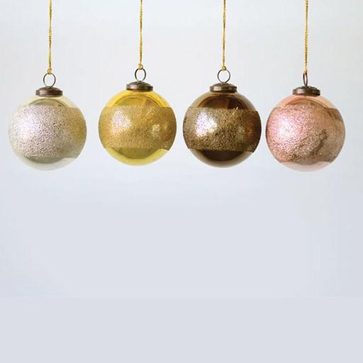 Round Glass Ornament