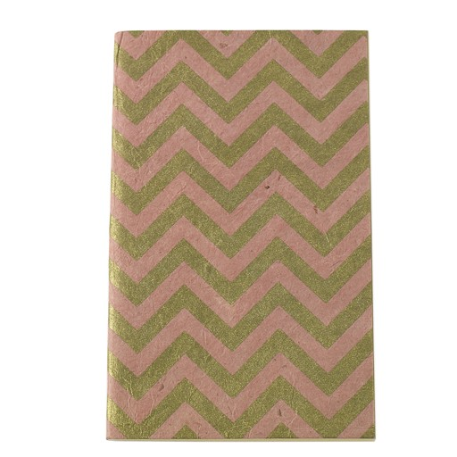 "Handmade Notebook Pink Chevron 5""x 8"""