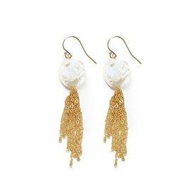 Hazen Jewelry Morgan Coin Pearl Earrings by Hazen Jewelry