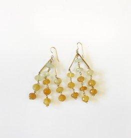 Hazen Jewelry Sutton Earrings Yellow Opal