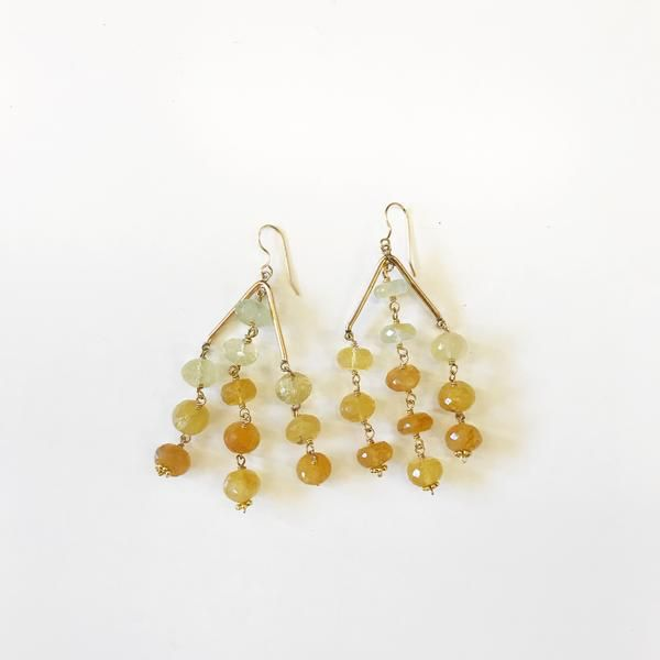 Hazen Jewelry Sutton Earrings Yellow Opal