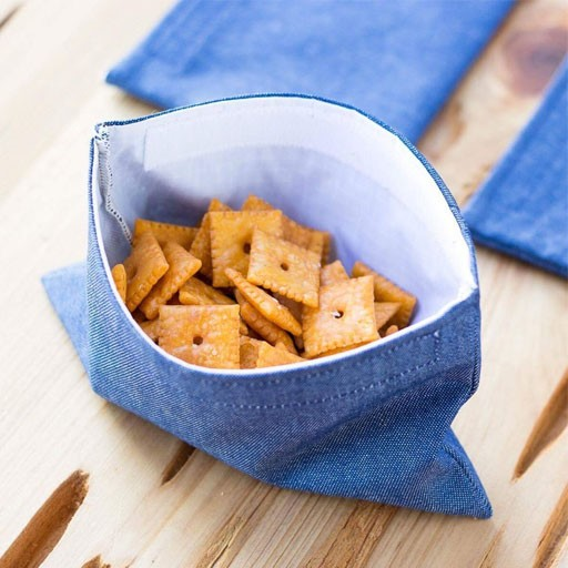 Denim Snack Bags Set/2 by Dot and Army