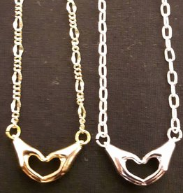 Necklaces Heart in Hands Necklace