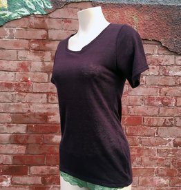 Tops Lumiere 100% Linen Scoop Neck Top