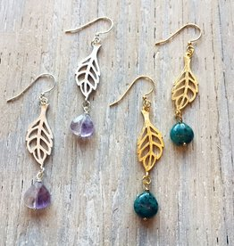 Earrings Spriggan Leaf Earrings