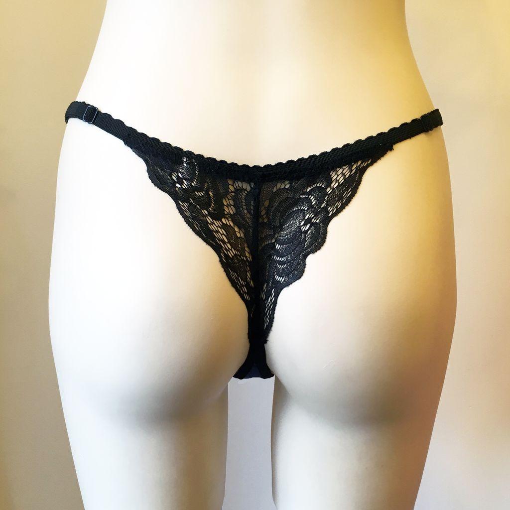 Underwear Bottoms Jessica Cobalt Lace Back Thong
