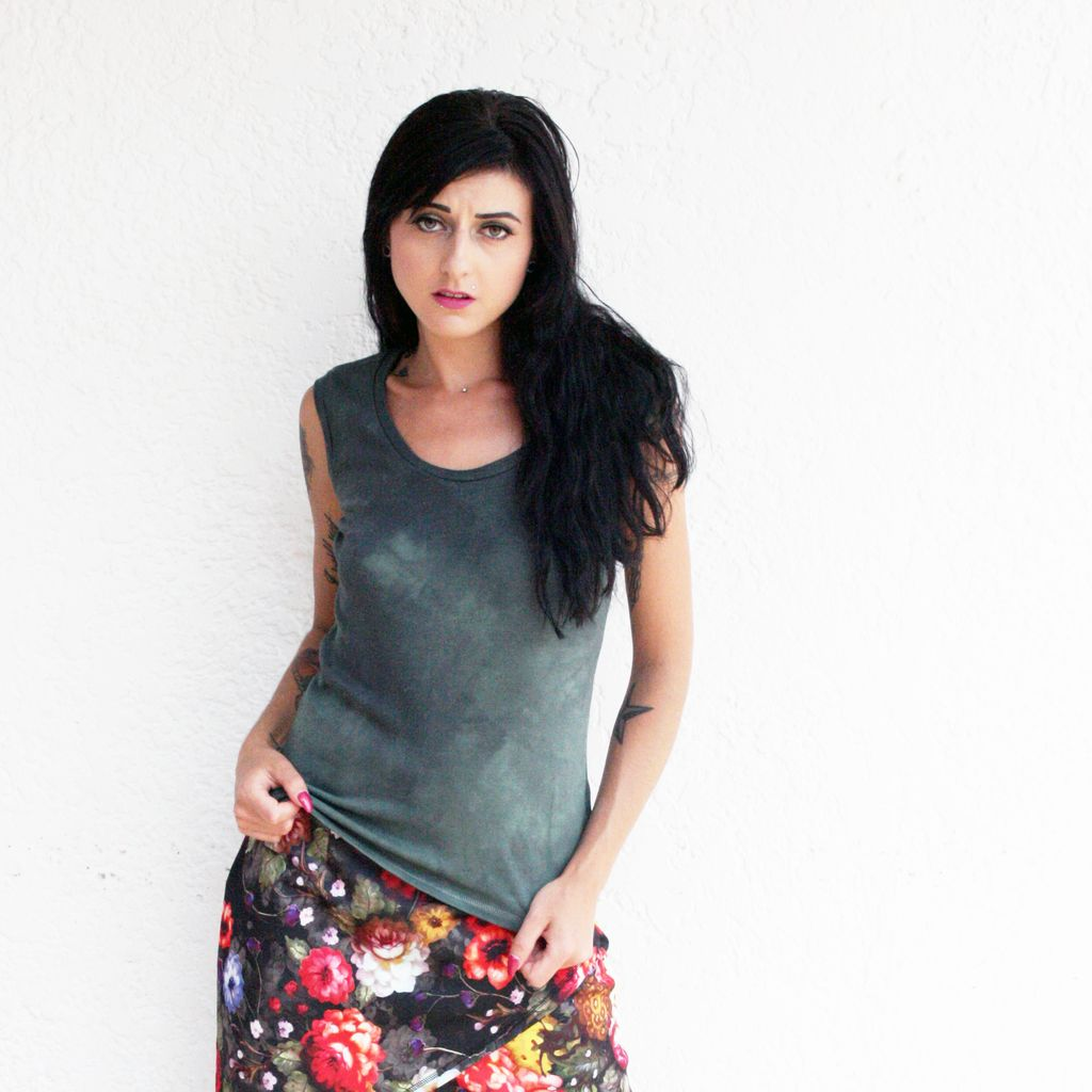 Tops Devi Hand Dyed Bamboo Blend Tank