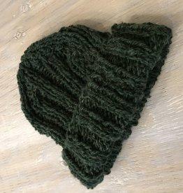Knit Wear Terri Rib Touque Forest Green.