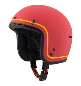Electric Mashman Helmet<br />Matte Red/Yellow Stripe